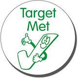 Target Met Tick Pre-inked Stamper