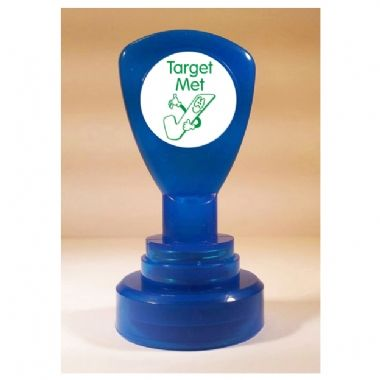 Target Met' Tick Stamper (21mm, Green Ink)