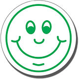 Smiley Face Stamper - Green Ink (25mm)