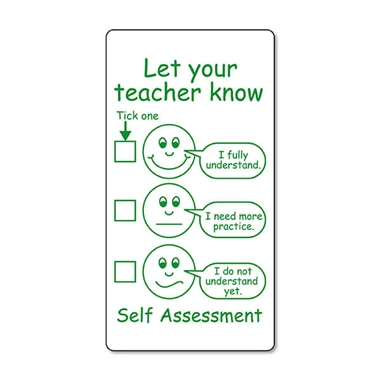 Let Your Teacher Know' Self-Assessment Pre-inked Stamper