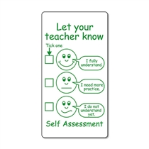 Let Your Teacher Know Self Assessment Pre-inked Stamper
