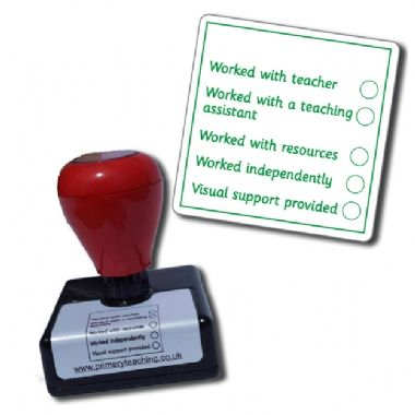 Teacher's Remarks APP Stamper - Green Ink (42mm x 42mm)