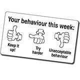 Your Behaviour This Week Thumbs Pre-inked Stamper