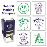 Marking Stampers Positive Feedback Mixed Box of 6 - Pre-inked