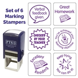Marking Stampers - Set of 6 - Purple (25mm)