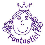 Pedagogs Stamper - Princess Fantastic! (25mm)