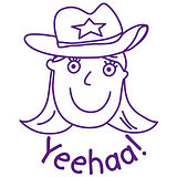 Pedagogs Stamper - Cowgirl - Yeehaa! (25mm)