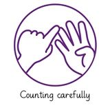Pedagogs 'Counting Carefully' Stamper - Purple Ink (25mm)