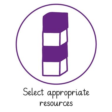 Pedagogs 'Select Appropriate Resources' Stamper - Purple Ink (25mm)