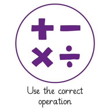 Pedagogs 'Use the Correct Operation' Purple Stamper