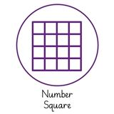 Pedagogs 'Number Square' Stamper - Purple Ink (25mm)