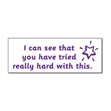'You Have Tried Really Hard With This' Stamper - Purple Ink (38mm x 15mm)