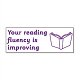 Your Reading Fluency is Improving Stamper - Purple Ink (38mm x 15mm)