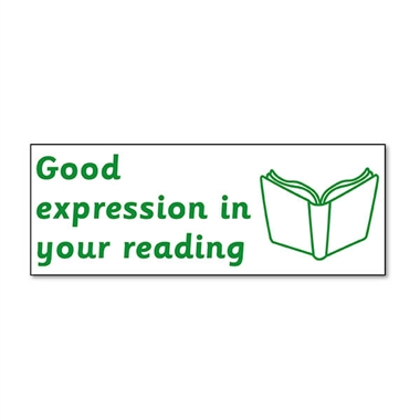 Good Expression in Your Reading Stamper - Green Ink (38mm x 15mm)