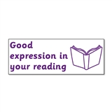 Good Expression in Your Reading Stamper - Purple Ink (38mm x 15mm)