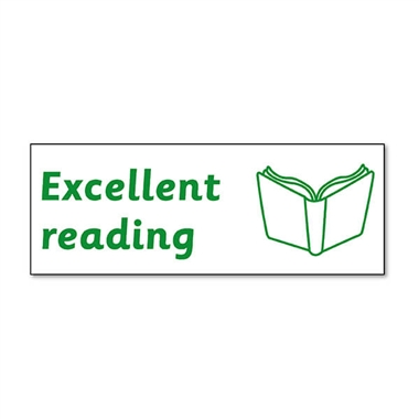 Excellent Reading Stamper - Green Ink (38mm x 15mm)