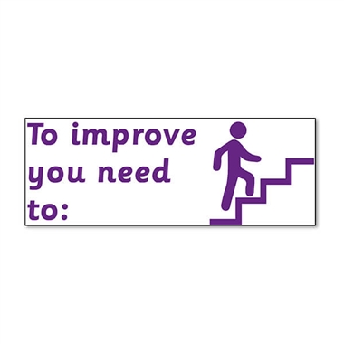 To Improve You Need To Stamper - Purple Ink (38mm x 15mm)
