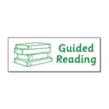 Guided Reading Stamper - Green Ink (38mm x 15mm)