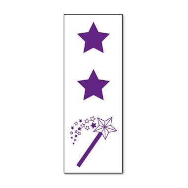 Two Stars and a Wish Stamper - Purple Ink (38mm x 15mm)