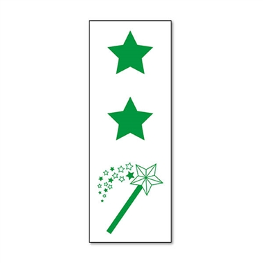 Two Stars and a Wish Stamper - Green Ink (38mm x 15mm)
