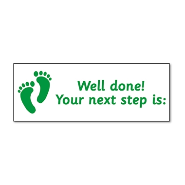 Your Next Step is Stamper - Green Ink (38mm x 15mm)
