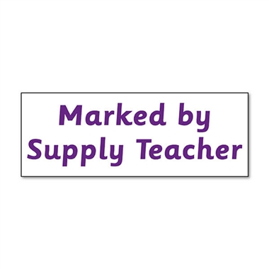 Marked by Supply Teacher Stamper - Purple Ink (38mm x 15mm)