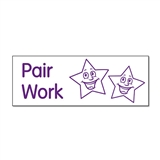 Pair Work Stamper (Stars) - Purple Ink (38mm x 15mm)