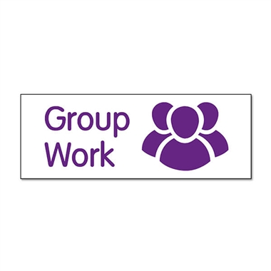 Group Work Stamper - Purple Ink (38mm x 15mm)