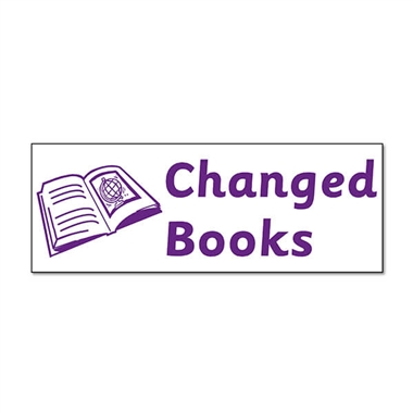 Changed Books Stamper - Purple Ink (38mm x 15mm)