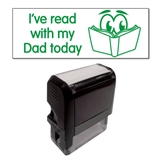 """I've read with my Dad today"" Stamper - Green Ink (38mm x 15mm)"