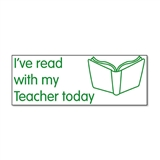 I've Read With My Teacher Today Stamper - Green Ink (38mm x 15mm)
