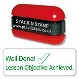 Well Done! Lesson Objective Achieved Stack & Stamp