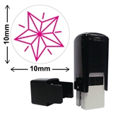 Star Mini Pre-inked Stamper - Pink Ink (10mm)