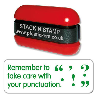 Remember to Take Care With Your Punctuation Stack & Stamp