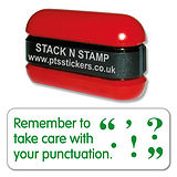 Take Care With Punctuation Stamper - Stack N Stamp