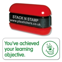 You've Achieved Your Learning Objective Green Stack & Stamp