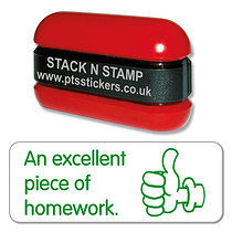An Excellent Piece of Homework Stack & Stamp