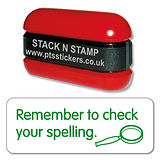 Remember to Check Your Spellings Stack & Stamp - Green Ink (38mm x 15mm)