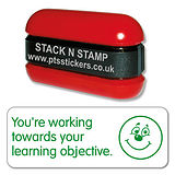 You're Working Towards Your Learning Objective Stack & Stamp