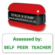 Self Peer Teacher Assessed Green Stack & Stamp