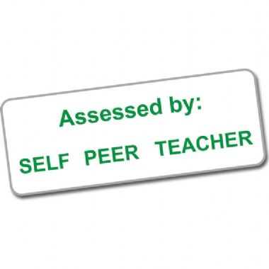 Self - Peer - Teacher Assessed Stack & Stamp
