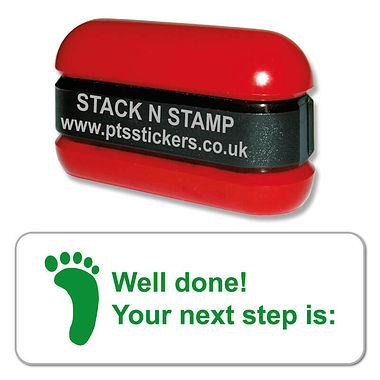 Well Done! Your Next Step is: Stack & Stamp