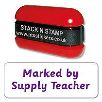 Marked by Supply Teacher Stack & Stamp