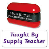 Taught by your Supply Teacher Stack & Stamp