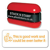 Orange Good Work Could Be Better if: Stack & Stamp
