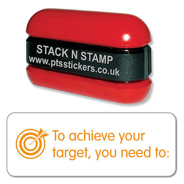 Orange To Achieve Your Target, You Need to: Stack & Stamp