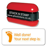 Orange Well Done! Your Next Step is: Stack & Stamp