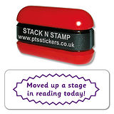 Moved Up a Stage in Reading Stamper - Stack N Stamp