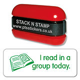 I Read in a Group Today Stamper - Stack N Stamp