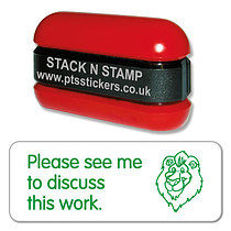 Please see me to discuss this work Stack & Stamp